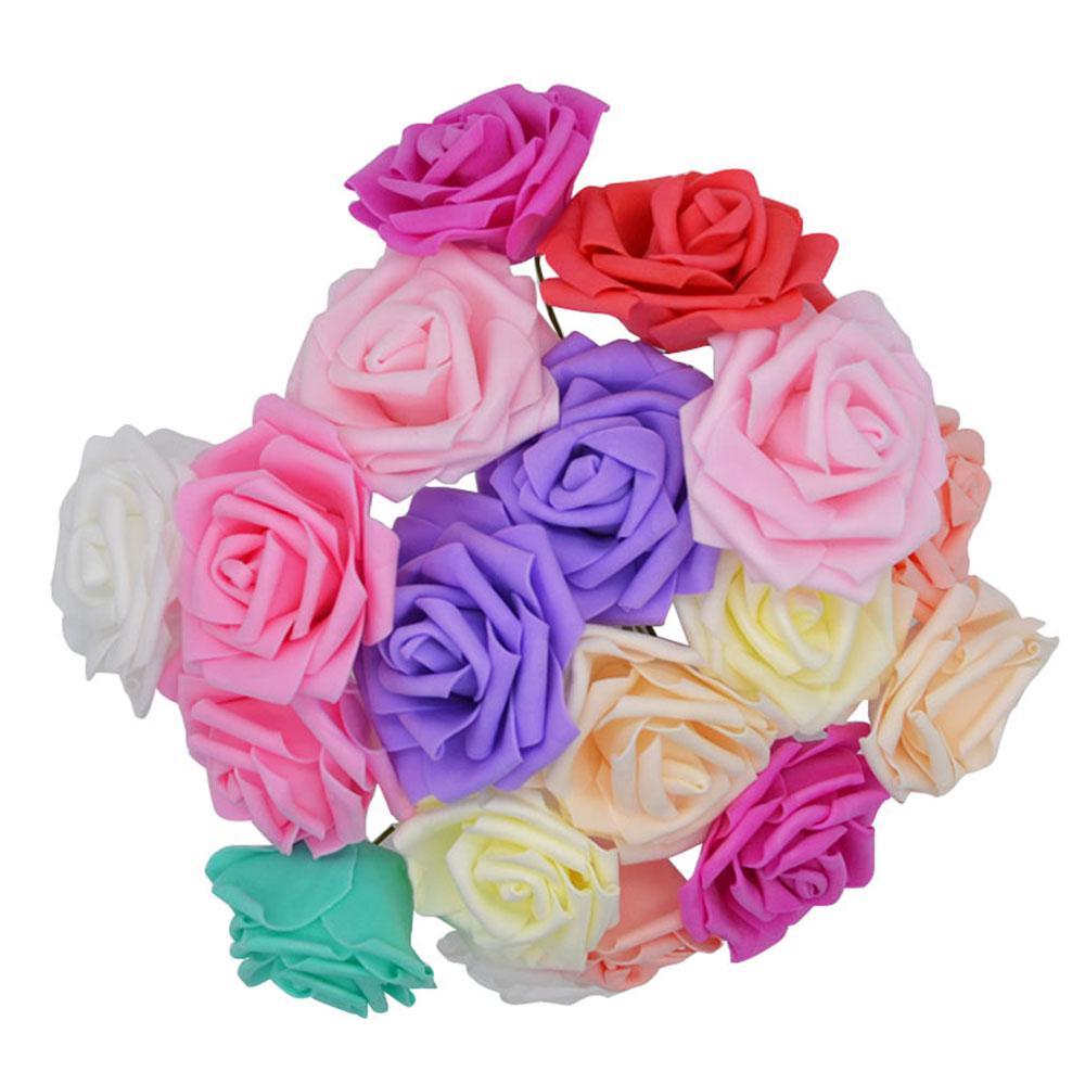6 Stücke Hochzeit Braut Blume Haarnadel Künstliche Blume Hortensie Haarschmuck