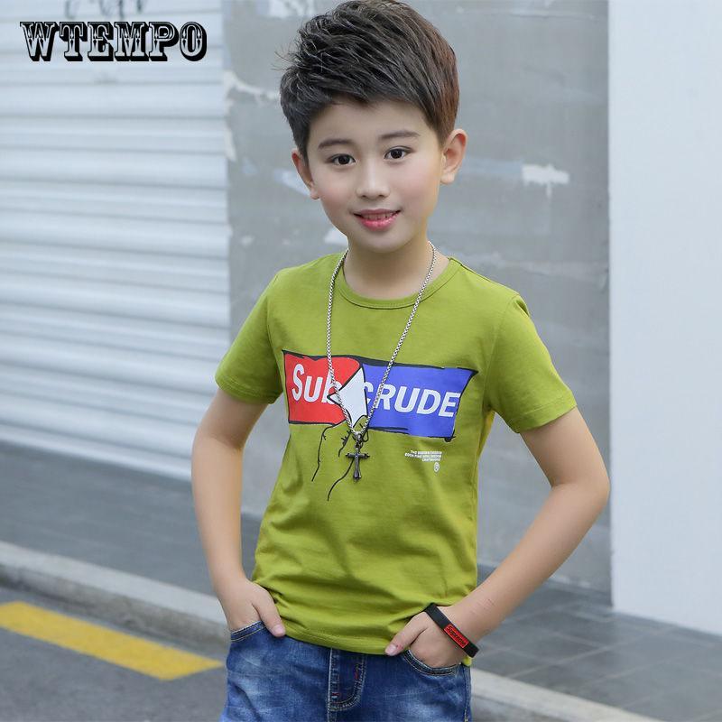 Бренд Дети Смешные T Рубашка Baby Летний короткий рукав Топы Мальчики футболка – купить по низким ценам в интернет-магазине Joom