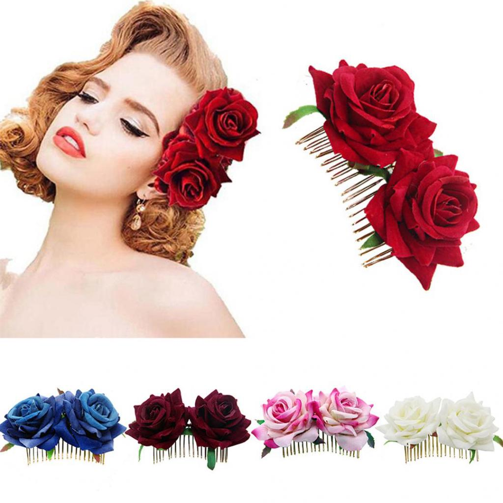 Rose Flower Hairpin Brooch Wedding Party Bridal//Bridesmaid Hair Clip Beatuy Hot