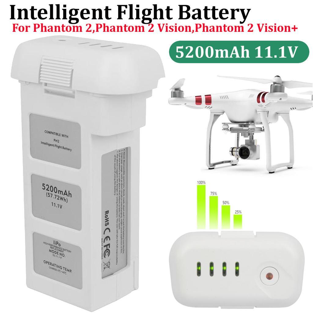 Intelligent Flight 3S Spare Lipo Battery 11.1V 5200mAh For DJI Phantom 2 Vision