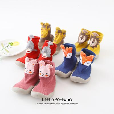 SO-buts Baby Girl Floor Socks Cartoon Socks Childrens Non-slip Toddler Footwear Lovely Animal Shoes Socks