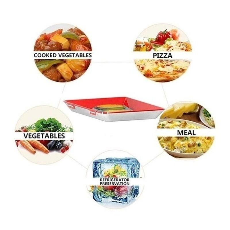 Creative Food Preservation Trays Healthy Kitchen Tool Fresh Storage Container UK