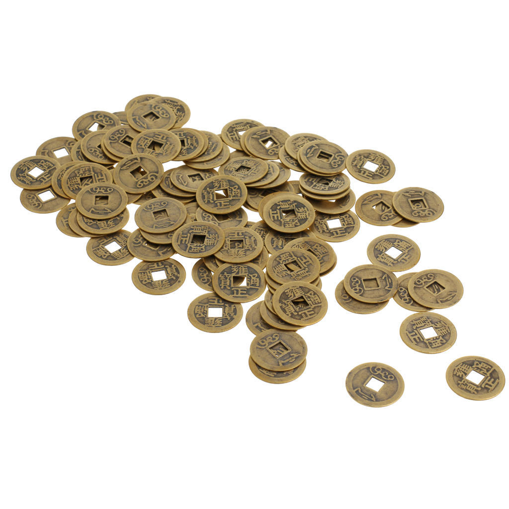 Glück Geld Münzen Glücksbringer Verheißungsvoll Fortune Chinesisch Feng Shui Neu