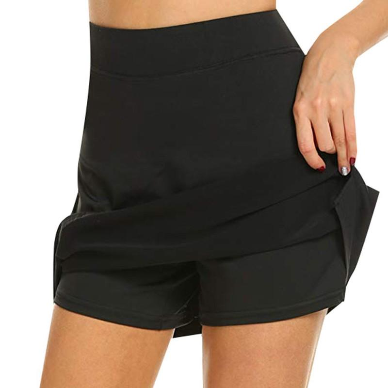 Pleated Women's Workout Skorts Solid Sports Pocket With Hidden Skort  Anti-Chafing - buy from 17$ on Joom e-commerce platform
