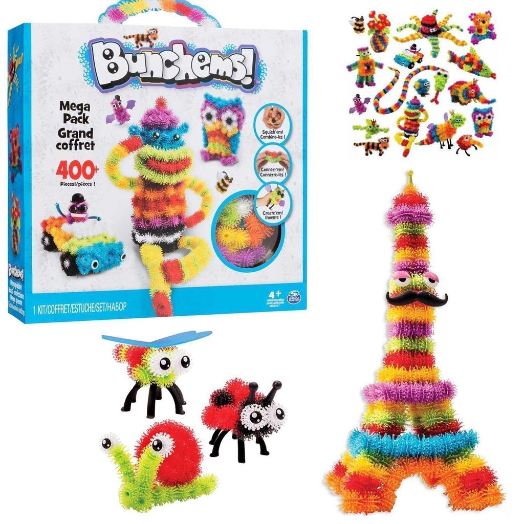 Kids Childrens Bunchems Mega Pack 800 Pieces Toy Festival Birthday Gift