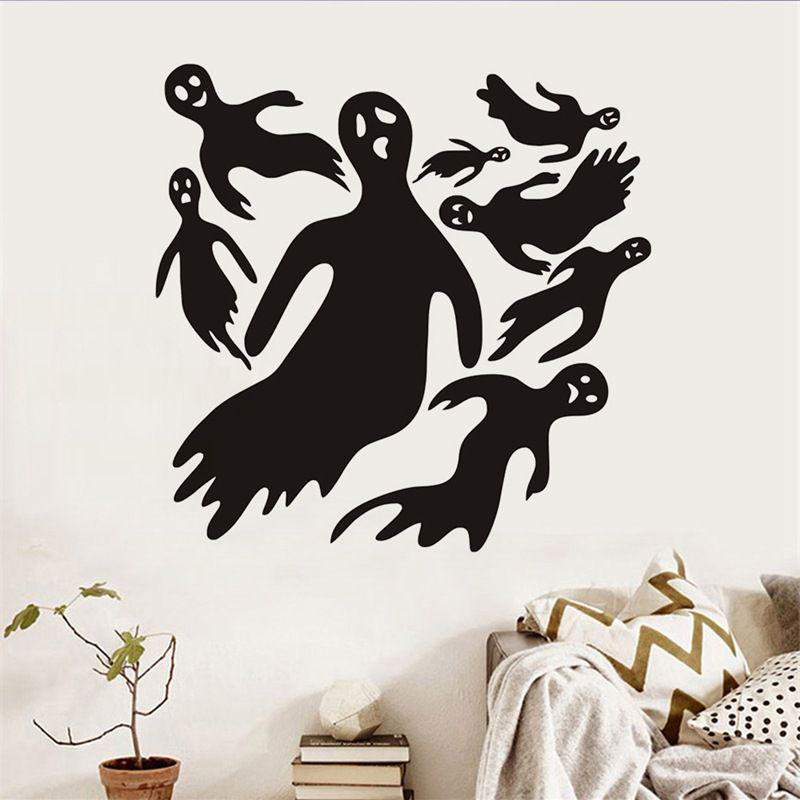 Halloween Horror Decoration Wall Stickers Ghost Wallpaper Waterproof Pvc Bedroom Decor Buy At A Low Prices On Joom E Commerce Platform