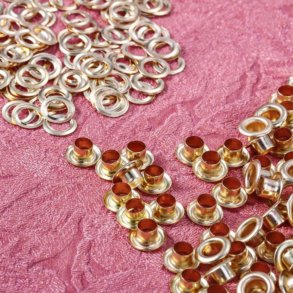 10pcs Round Antique Gold Metal Eyelet Grommets 6mm Hole Leathercraft Scrapbook