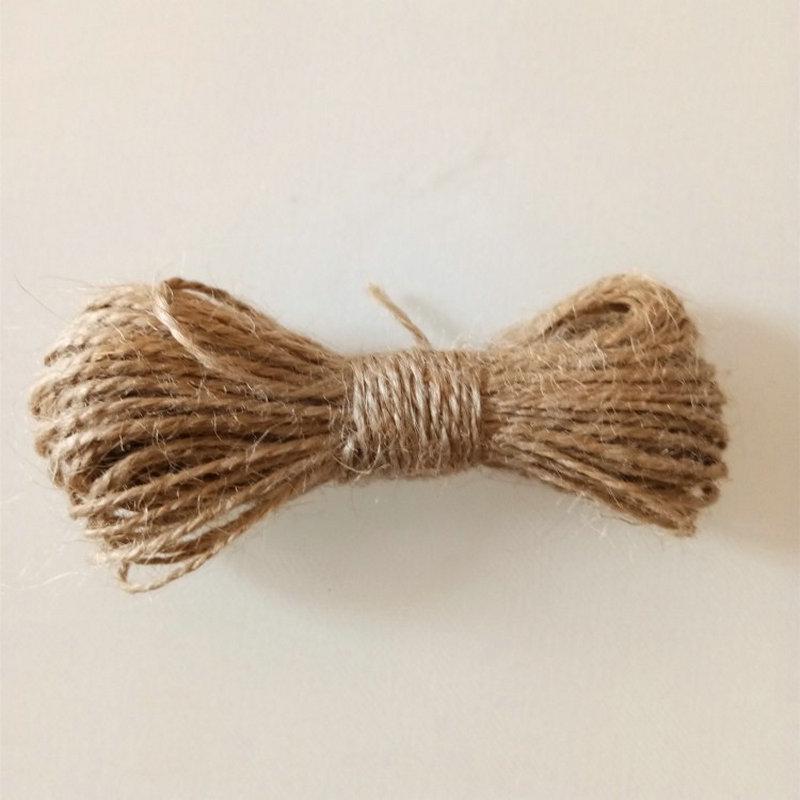 3Ply 25m ou 50m rustique naturel toile de jute de hesse jute ficelle tag chaîne ruban cordon