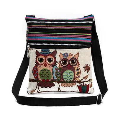 Fashion Girls Owl Satchel Messenger Shoulder Bag Handbag Cross Body Purse