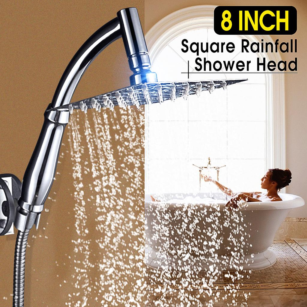 "8/"" Stainless Steel Shower Head Rainfall Ultra Thin Shower Oil Rubbed Bronze Bath"