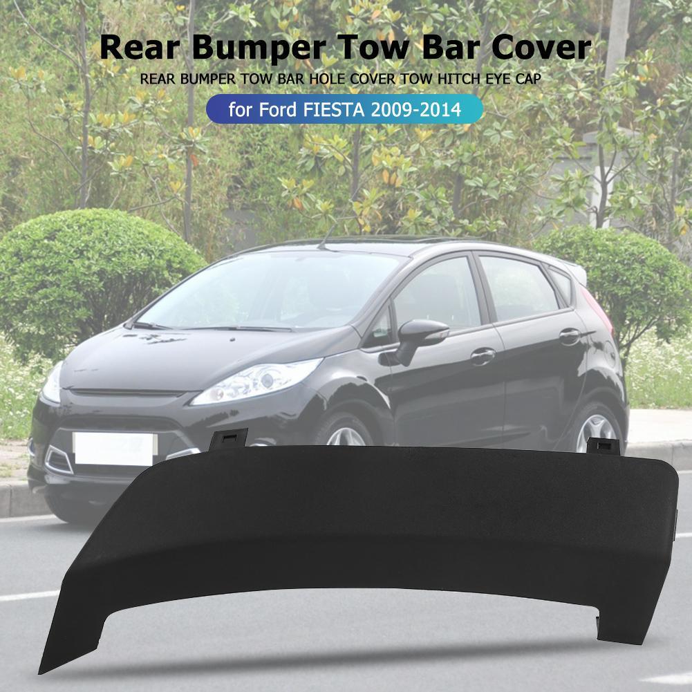 8A61-17K922 Car Rear Bumper Cover Car Rear Bumper Tow Towing Hook Cover Cap Compatible with Fiesta Ordinary