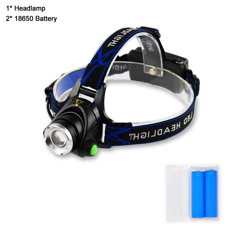 Zoomable 15000lm 30W XML T6 LED Headlamp Rechargeable Headlight 2x18650 Headlamp