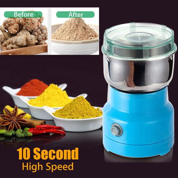 110-220V Electric Herb//Spices//Nuts//Grains//Coffee Bean Grinder Mill Grinding Home