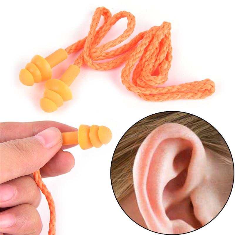 1Pair Noise Cancelling Earplugs Waterproof Diving Sleeping Anti-Noise Ear Plug