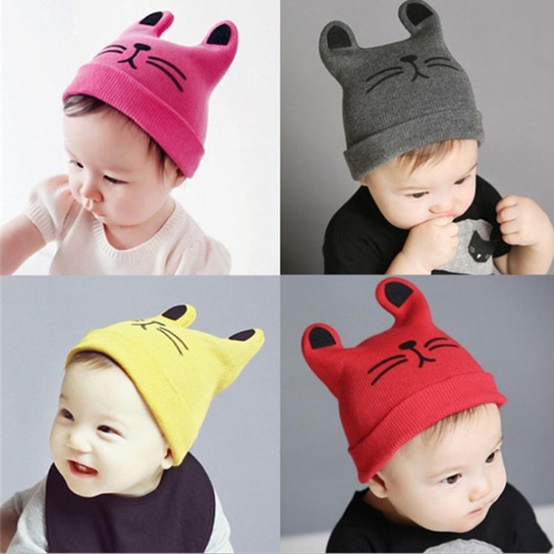 Kids//Childrens Unisex Striped Winter Thermal Knitted Slouch Hat
