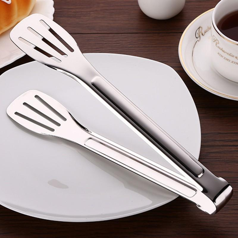 Details about  /Pastry Clamp Barbecue Tongs Stainless Steel Bread Clip Kitchen Utensil Accessory