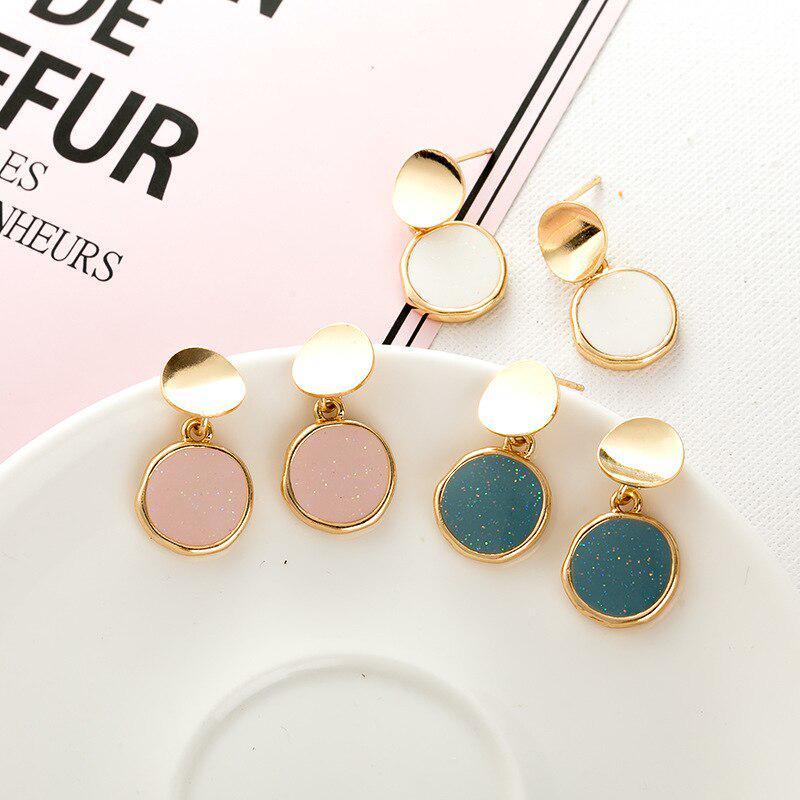 Black opal imitation unique studs resin earrings for men for women wedding jewelry minimalist simple earrings