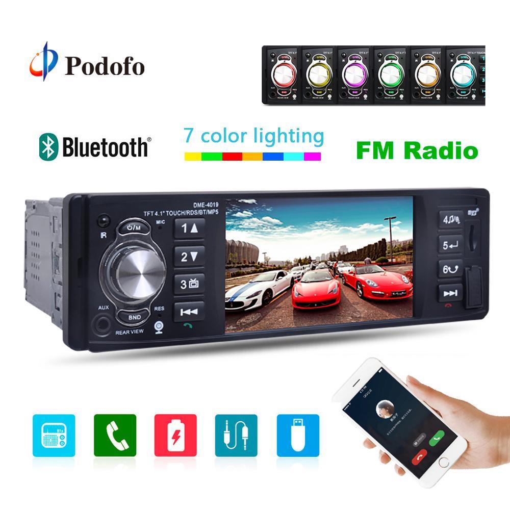"Camera HG 4019B 4.1/"" 1 Din Car MP5 Player Stereo FM Radio Bluetooth"