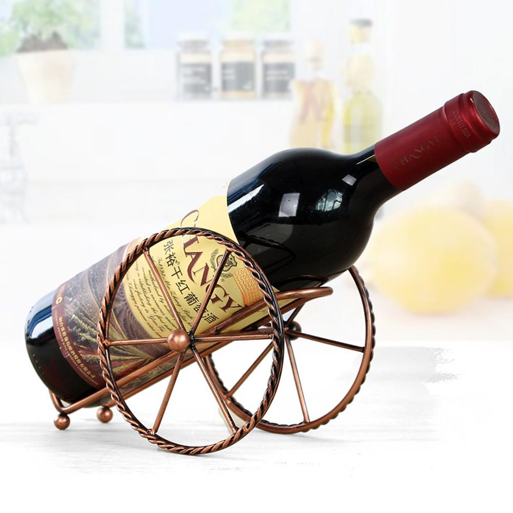 Tooarts Wine Bottle Holder Fire Extinguisher Shape Wine Rack Creative Ornament Decor Gifts