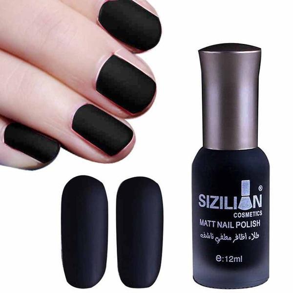 12ml negro mate esmalte de uñas secado rápido uñas mate arte barniz ...