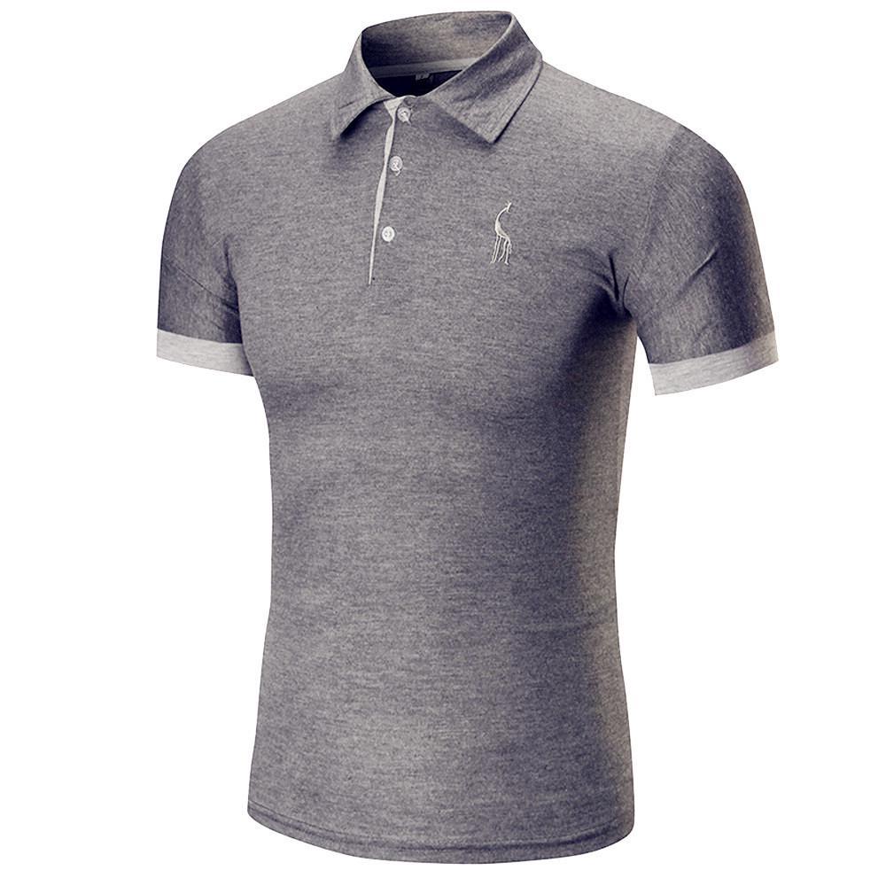 10 cores cervos moda casual dos homens de negócios magro de manga ... 5e811e16ffae2