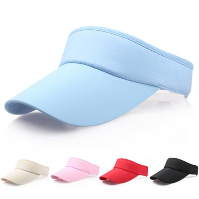 36270caa60c Visor Sun Plain Hat Sports Cap Colors Golf Tennis Beach Adjustable Summer  Hot