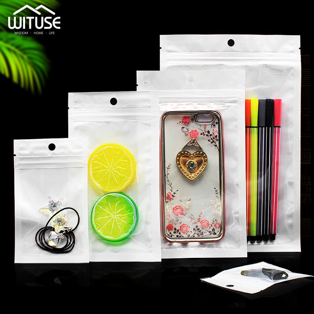 """50 Micron 100pcs 12/"""" x 16/"""" Ziplock Clear Plastic Reclosable Zip Poly Bags with Resealable Lock Seal Zipper 30 x 40 cm 2 mil"""
