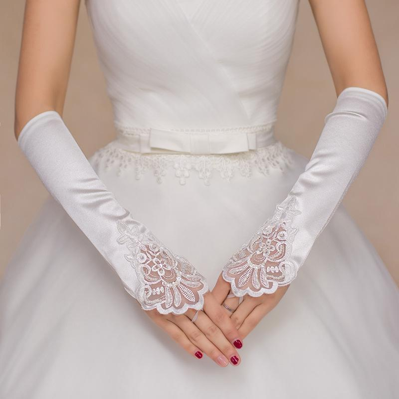 1 Pair Ivory Lace Wedding Gloves Fashion Women/'s Wedding Bridal Party Gloves