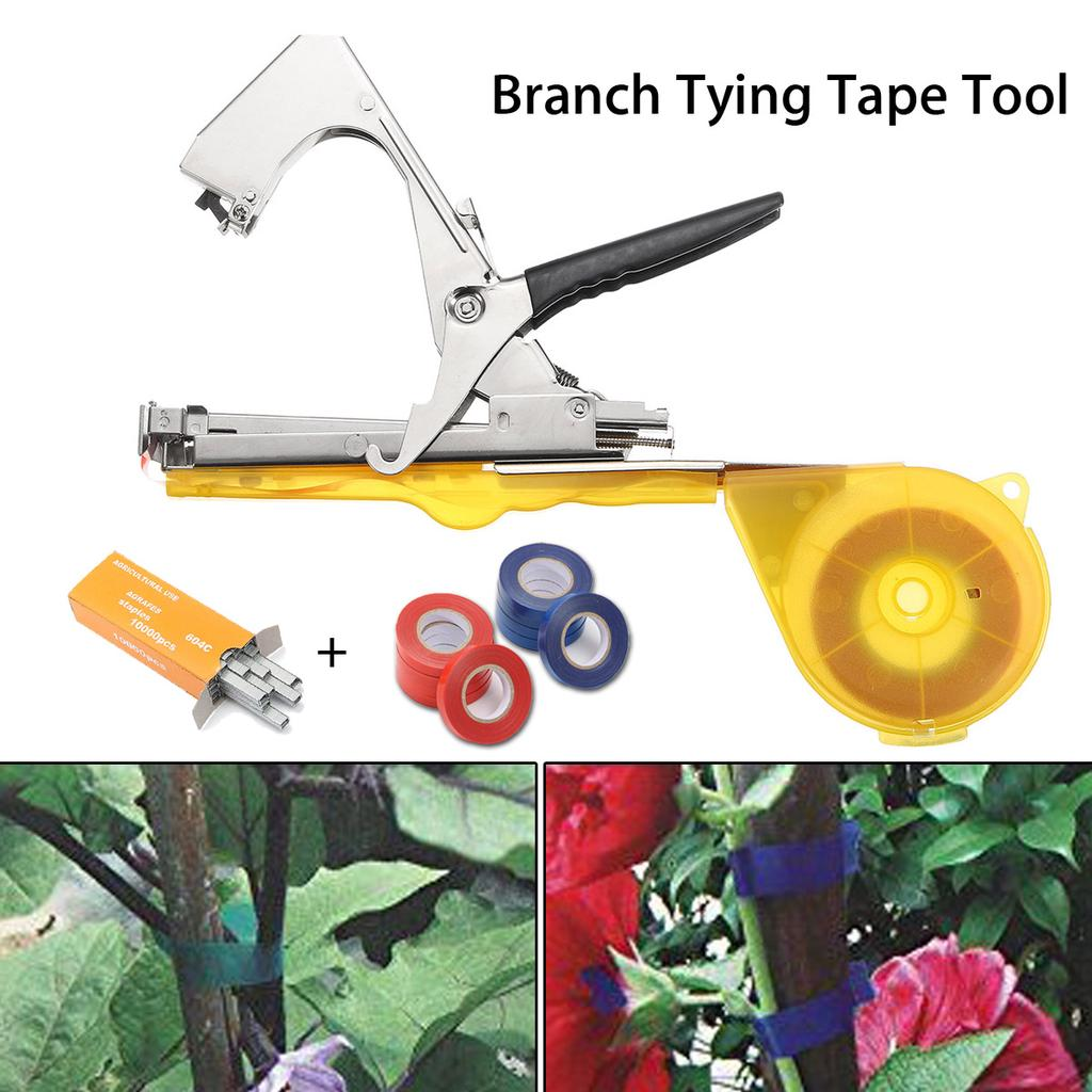Vine Branch Tying Tape Tie Stapler Hand Tool Plant Fruit Vegetable Nursery Prune
