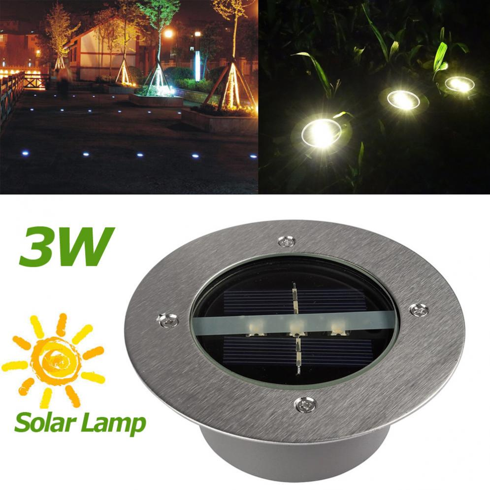 8LED Solar Power Buried Light Under Ground Lamp Outdoor Path Way Garden US⭐⭐⭐⭐⭐