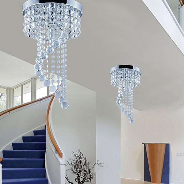 ?led吸顶灯水晶过道灯走廊过道水晶灯 现代简约玄关灯阳台过道灯具