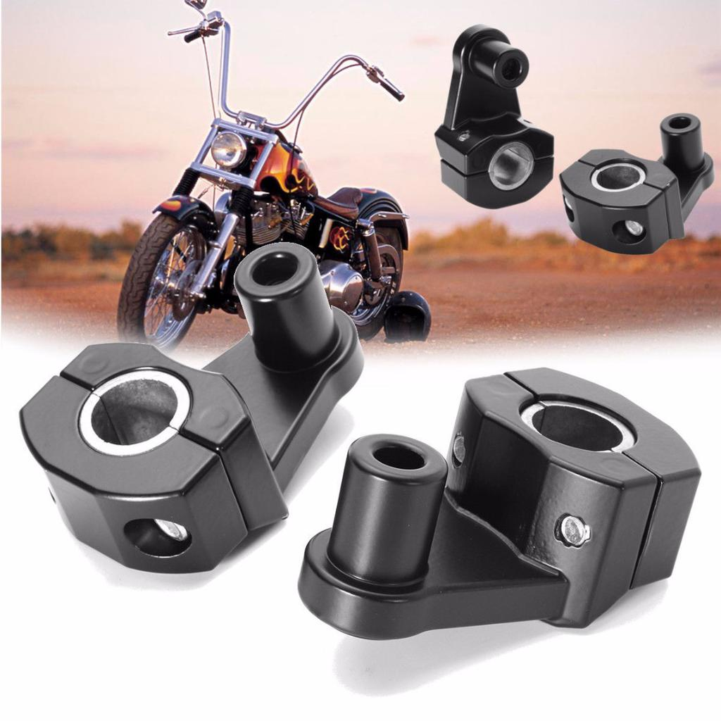 "Silver Metal 7//8/"" 22mm Motorcycle HandleBar Handle Fat Bar Mount Clamps Riser"