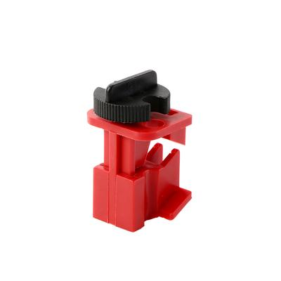 Universal Industrial Safety Mini Valves Lockout Set 3Pcs w// Mooring Cord Red