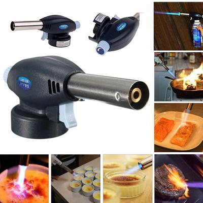 Butane Gas Blow Torch Flamethrower Burner Auto Ignition Camping Welding BBQ Tool