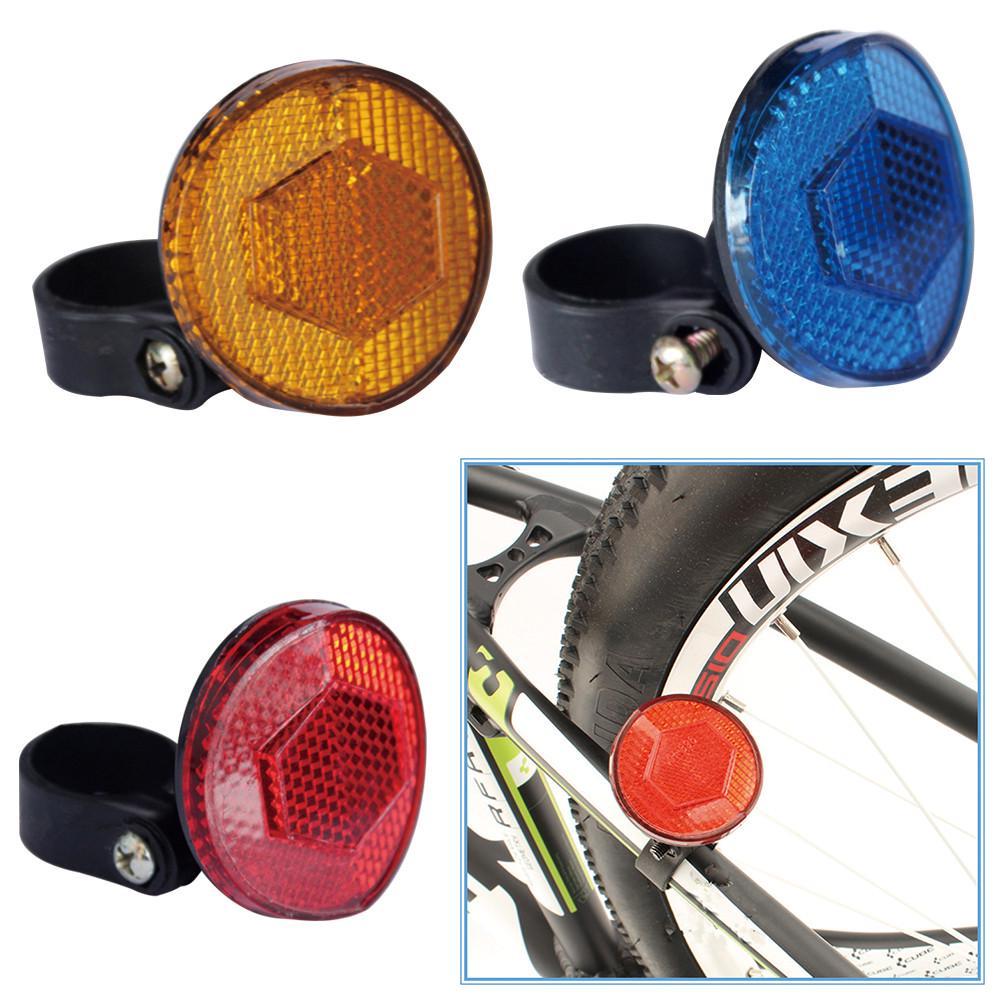 Bicycle Bike Safety Caution Warning Reflector Disc Rear Pannier RacksGK