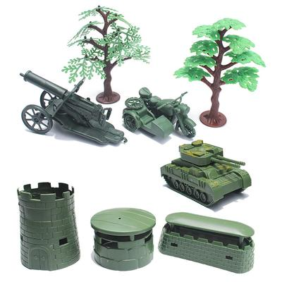 Army Base Toy Soldiers Kits Blockhouse Large Truck Army Men ACCS Grey