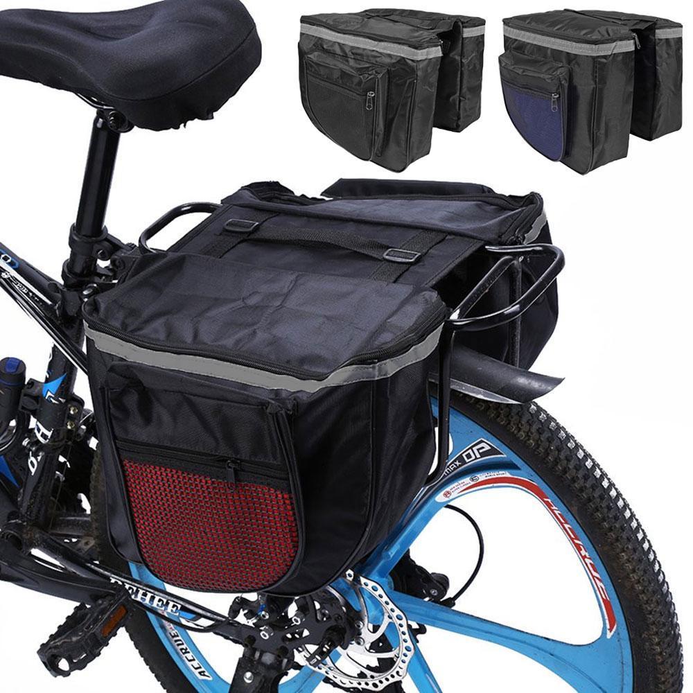 Bicycle Rear Rack Bag Bike Tail Seat Trunk Pack Stroage Pouch Handbag 600D PU