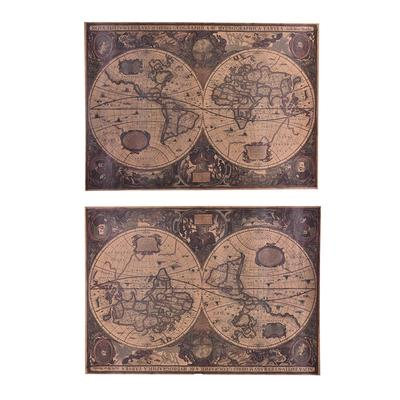 72x51cm Retro Vintage Globe Old World Map Matte Brown Paper Poster Home Decor,