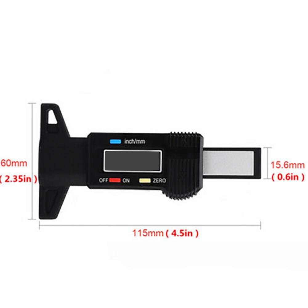 Gauge Caliper LCD Display Car Tester Digital Truck Tire Tread Depth Accurate