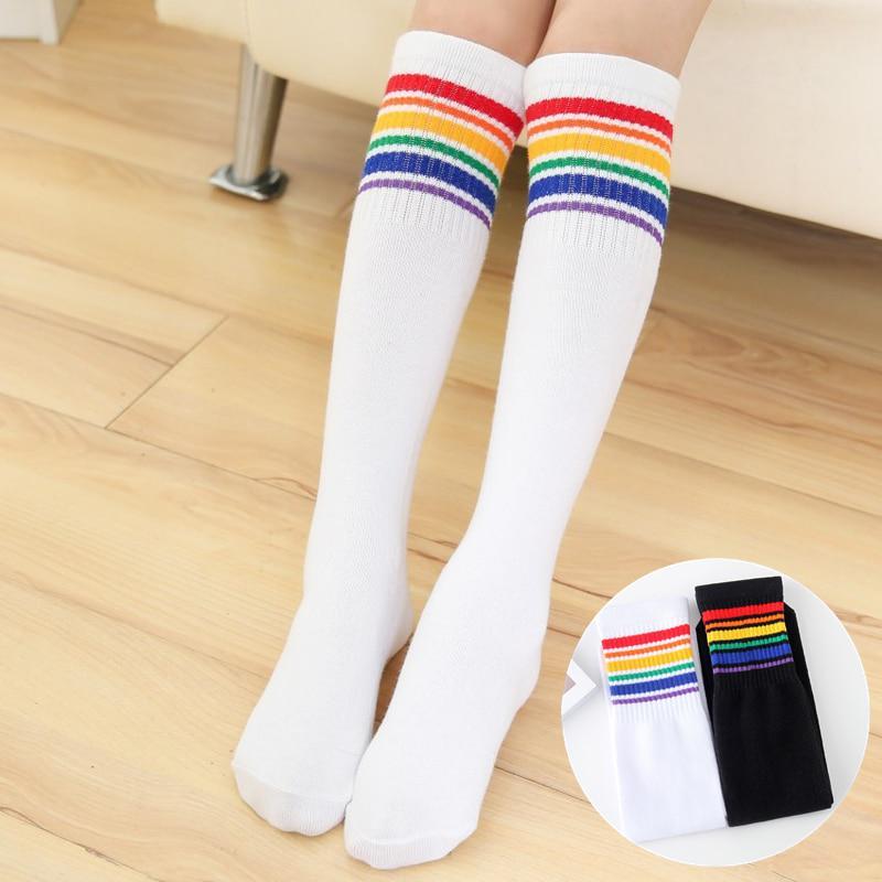 Girls 6 Pairs Knee High Socks Hearts White Grey School Childrens Cotton Rich