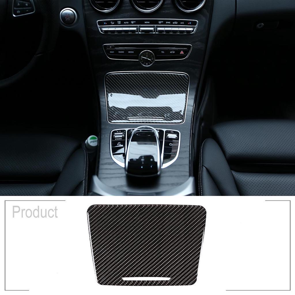 Carbon Fiber Headlight Switch Cover Trim For Benz C Class W205 GLC X253 15-19