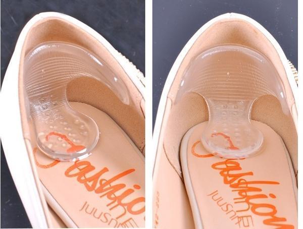 Schuhzubehör Einlagen & Kissen 1 Pair Transparente Unsichtbare Silikon Gel Ferse Liner T-förmigen Rutschfeste Schuhe Aufkleber Hohe Ferse Schuh Pad Einlegesohlen