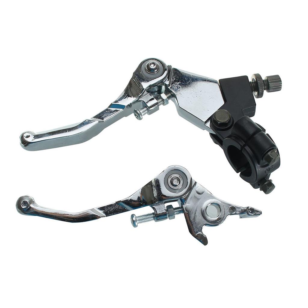 Aluminum Alloy Folding Clutch /& Brake Lever for Motorbike 70cc 125cc Silver