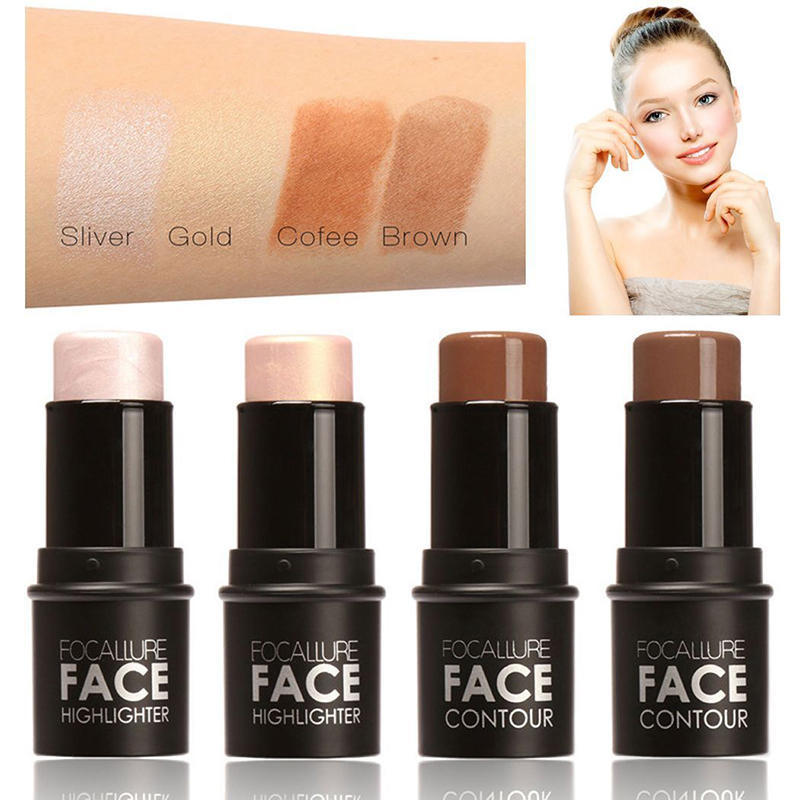FOCALLURE FA01 Bling Shimmer Highlighter Stick on Highlighting Powder Creamy Texture Waterproof-buy at a low prices on Joom e-commerce platform