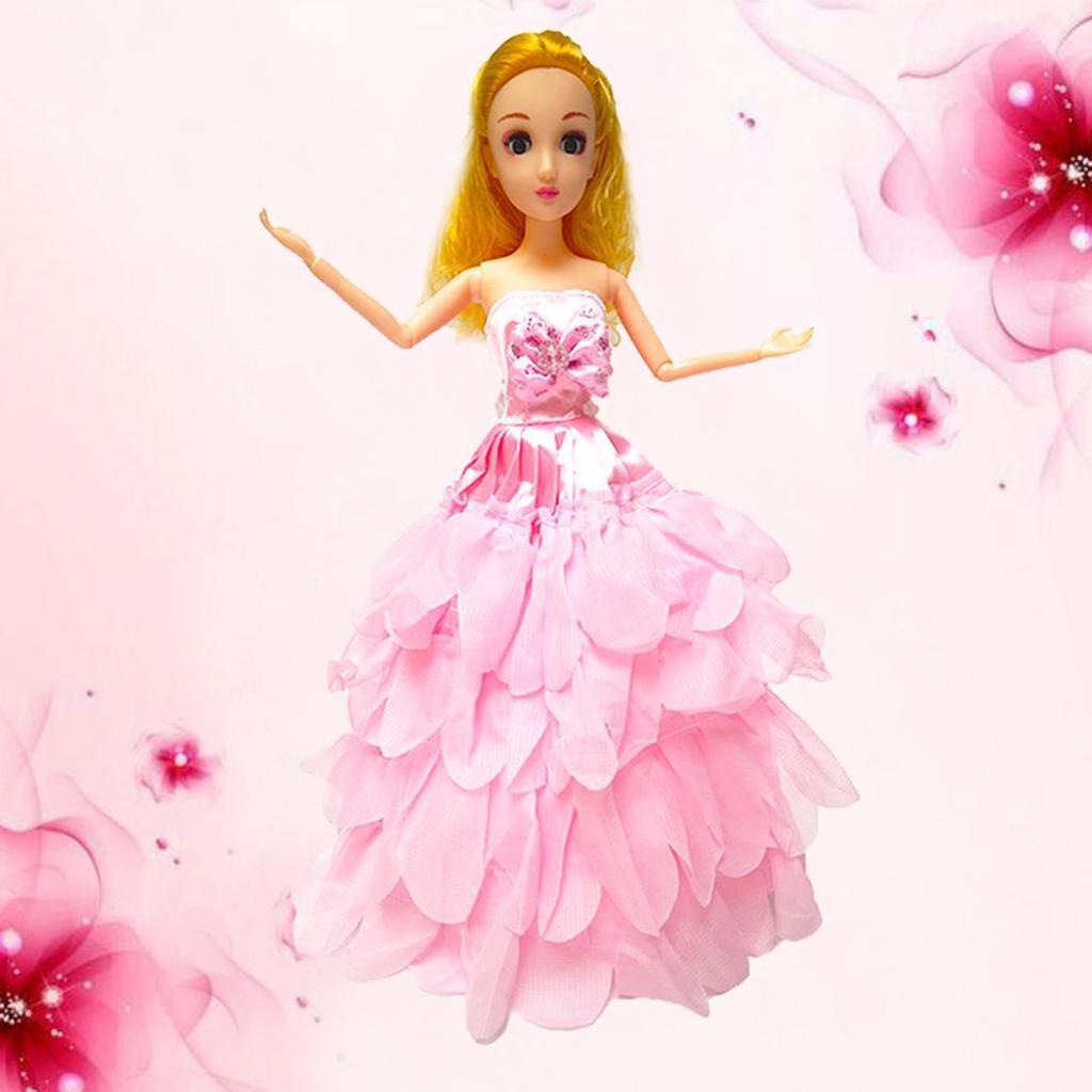 Pysho Vestido de Novia de princesa muñeca ropa accesorios niñas ...