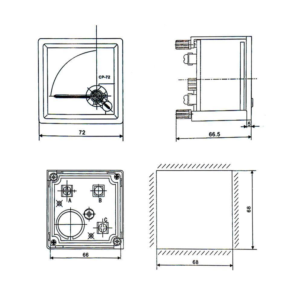 Cp 72 Accuracy Ac 20a Analog Panel Meter Ammeter Amperemeter Buy At Dt830d Digital Multimeter Circuit Diagram 2 Of 3