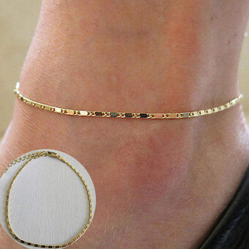 NEW 2 Love Heart Anklet Bracelet Chain Silver Ankie Foot Beach Barefoot Sandal