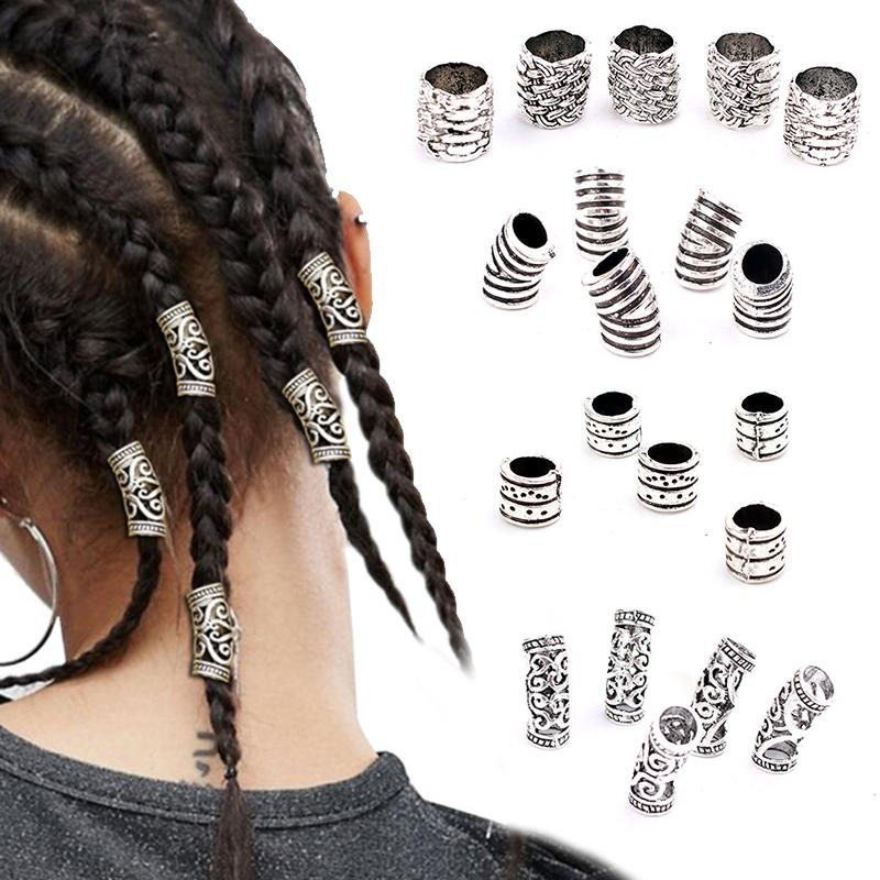 5x   Braid Rings Hair Clips Pendants Charms Hair Jewelry Decorations