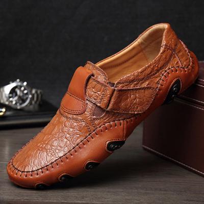 96d5eb8860a26 Moda primavera verano hombres plana calzado Split suave cuero hombre  mocasín mocasines zapatos de conducción