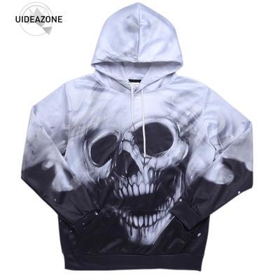ba47dc2b2a38 Autumn Hoodie Hoodies Men Women Long Sleeve Skull Winter Brand Hooded  Sweatshirt Casual Pullover 3D